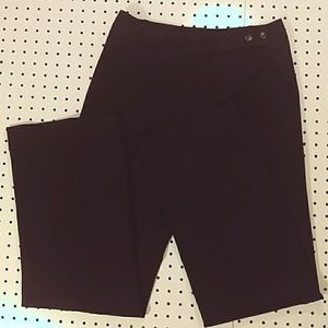 Ann Taylor Wide Leg Black Dress Pants Size 4